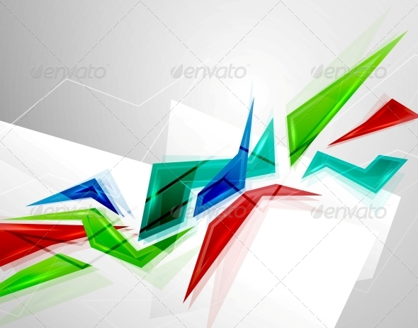 Colorful Geometric Shapes Background - Backgrounds Decorative
