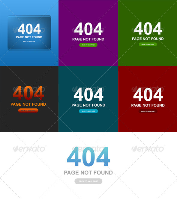 7 Clean Style 404 Error Web Pages - 404 Pages Web Elements