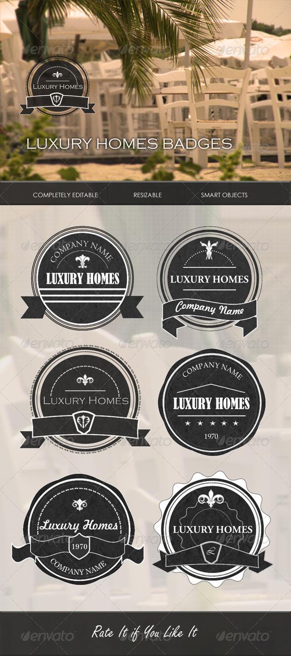 Luxury Homes Badges - Badges & Stickers Web Elements