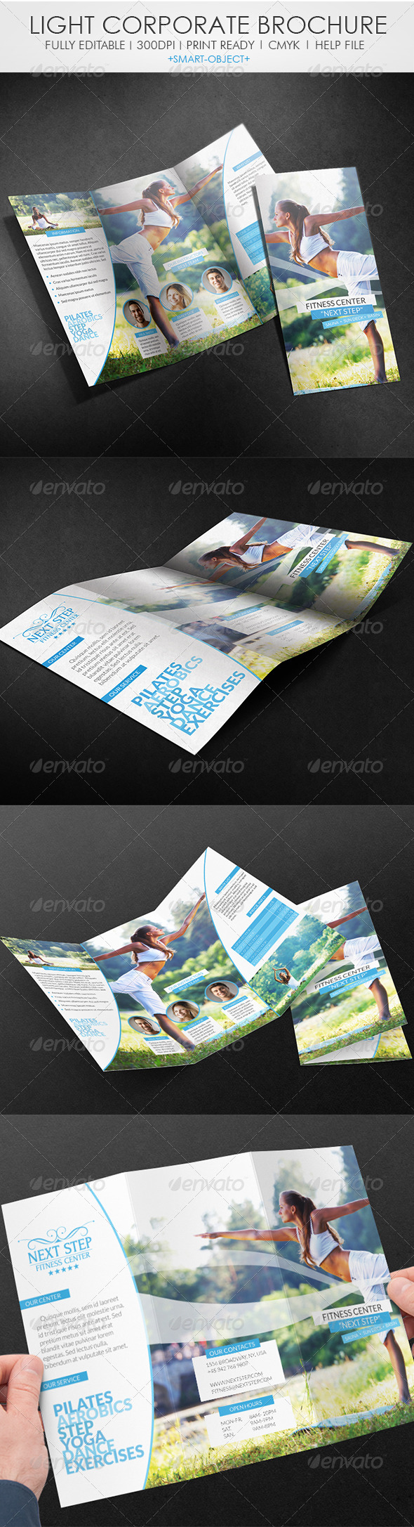 Light Corporate Tri-fold Brochure - Corporate Brochures