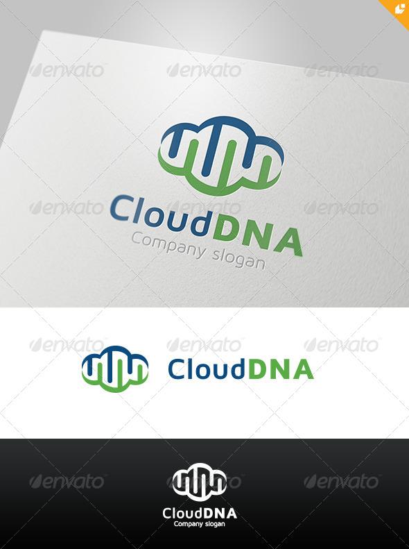 Cloud DNA Logo - Nature Logo Templates