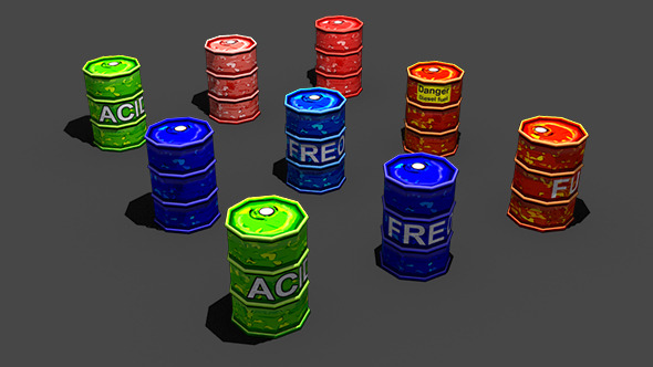 Toon Barrels - 3DOcean Item for Sale