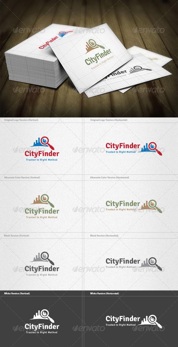 City Finder Logo - Buildings Logo Templates
