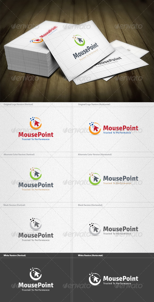 Mouse Point Logo - Vector Abstract
