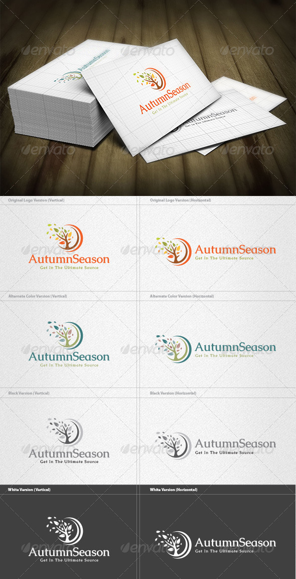 Autumn Season Logo - Nature Logo Templates