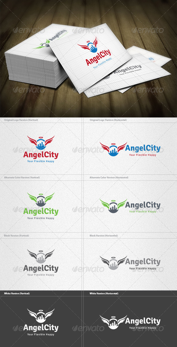 Angel City Logo - Buildings Logo Templates