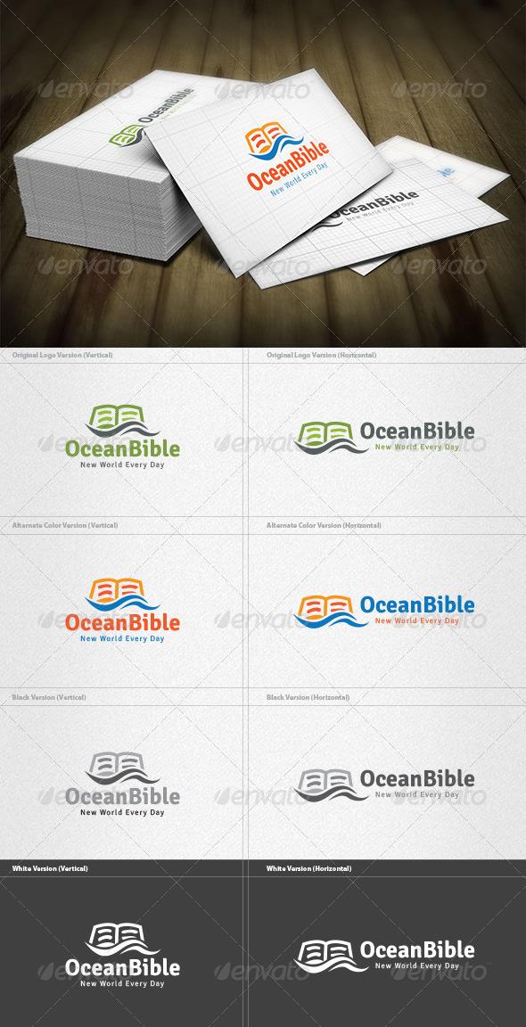 Ocean Bible Logo - Nature Logo Templates