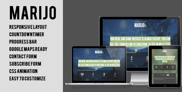 Marijo – Responsive Under Construction Template