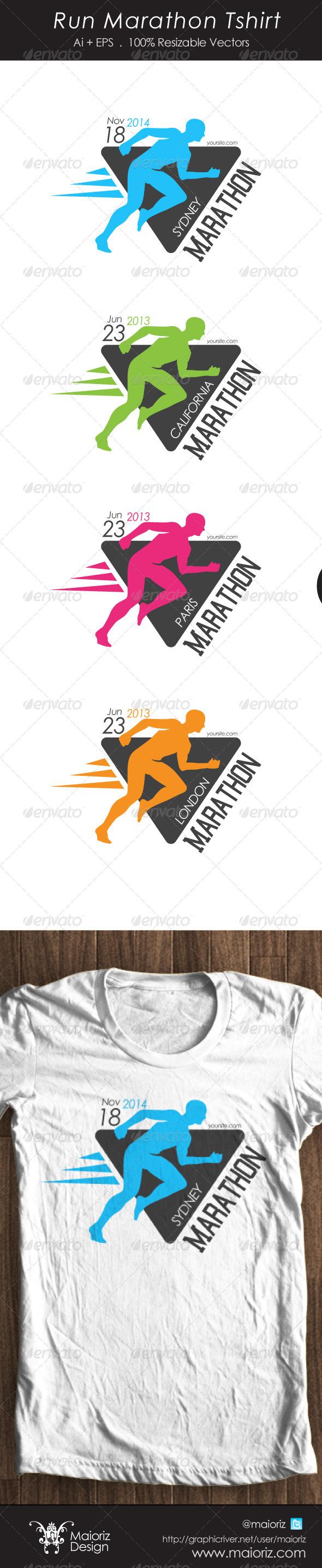 Run Marathon Tshirt - Events T-Shirts