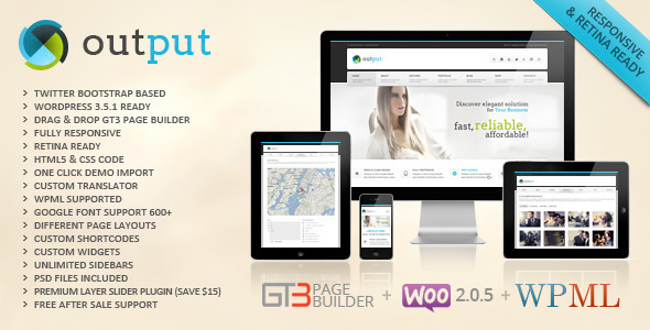 Output | Responsive Multi-Purpose WordPress Theme