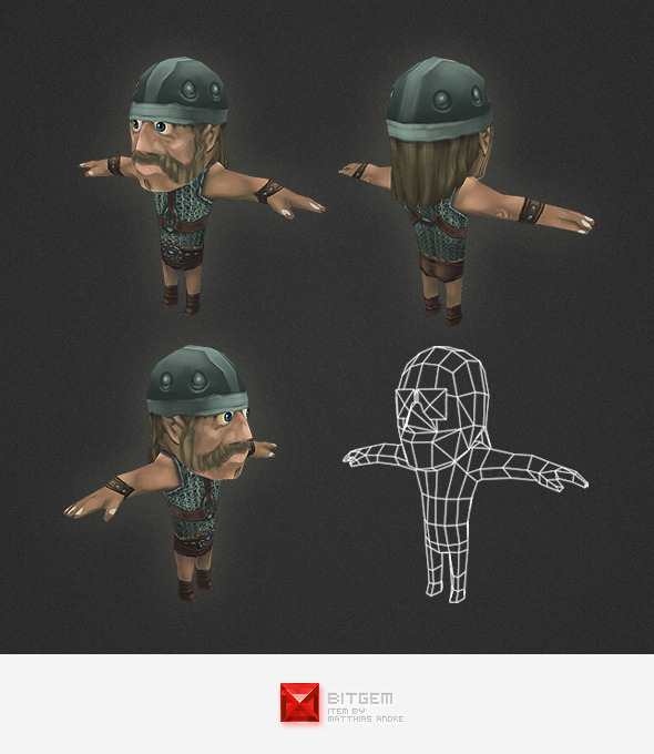 Low Poly Human Archer - 3DOcean Item for Sale