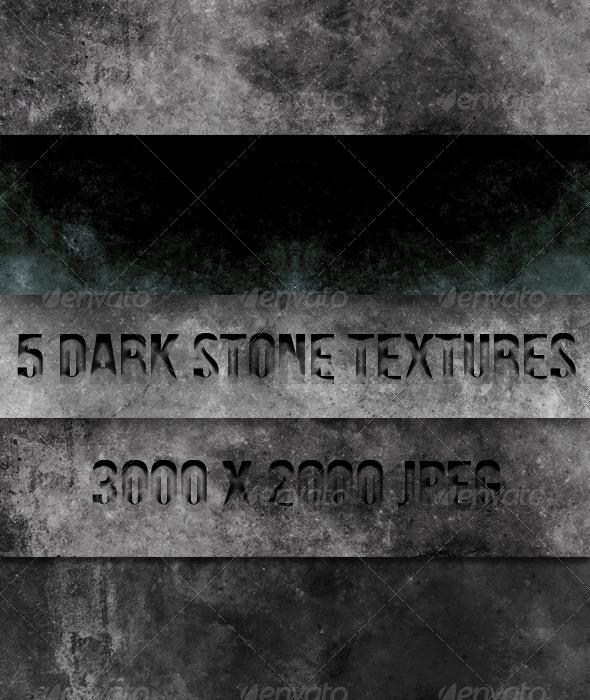 5 Dark Concrete Textures - Textures