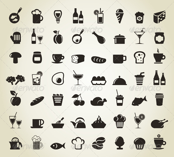 Meal Icons  - Food Objects