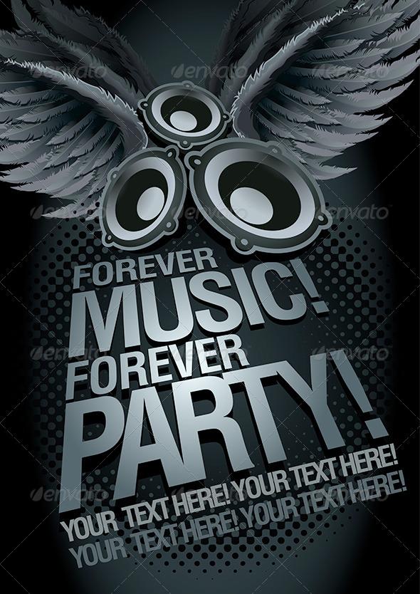 Music Concept Poster Template - Miscellaneous Vectors