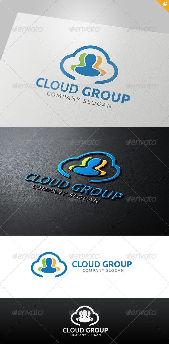 Cloud Group Logo - Humans Logo Templates