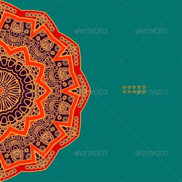 Vector Round Decorative Design Element - Miscellaneous Seasons/Holidays