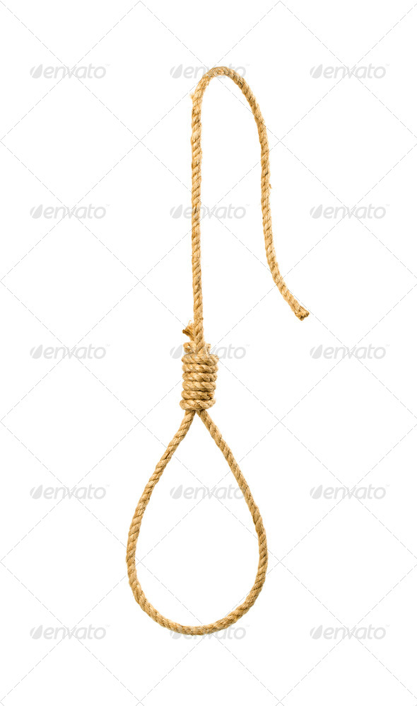 Gallows on white - Stock Photo - Images