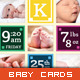 Baby Announcement Card - New Arrival - GraphicRiver Item for Sale