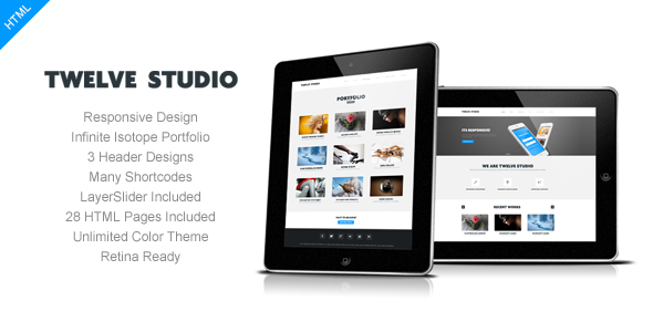Twelve Studio – Responsive Multipurpose Template