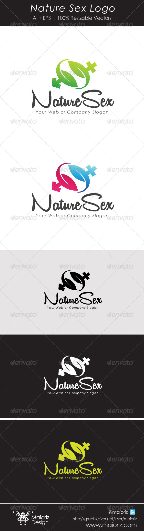 Natures Sex Logotype - Vector Abstract