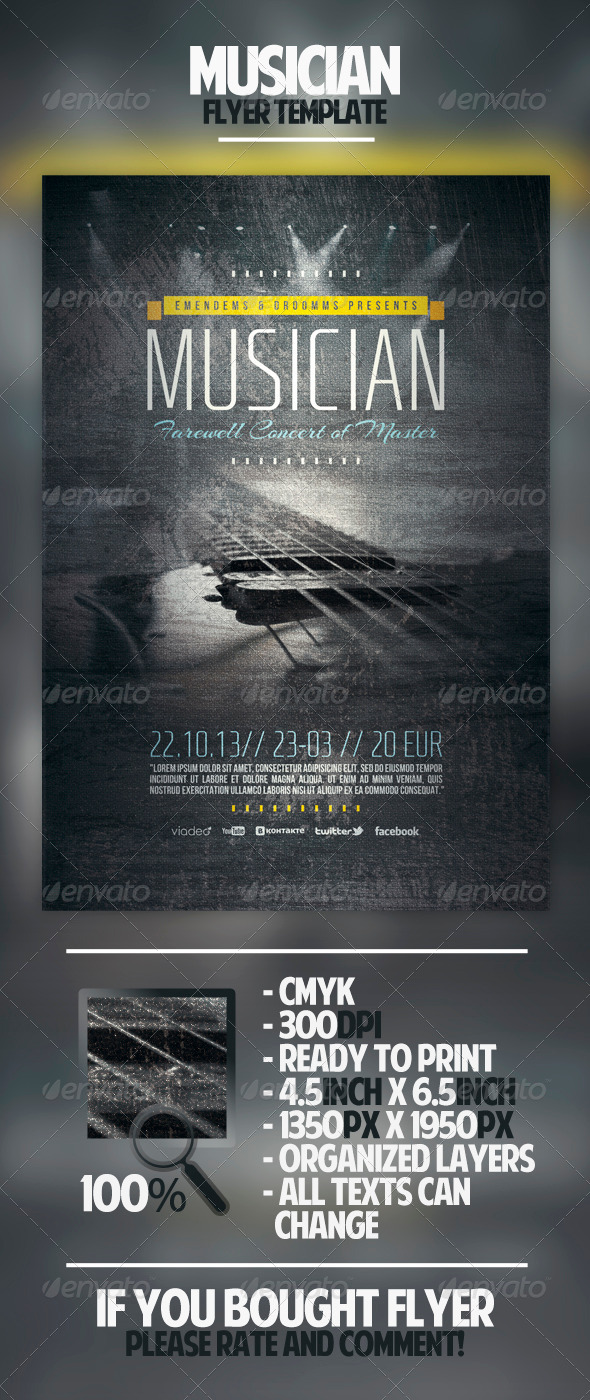 Musician Flyer Template - Concerts Events