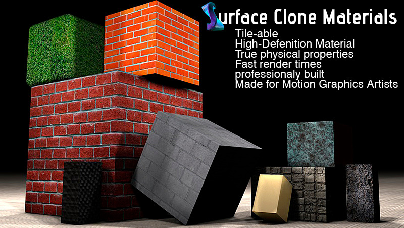 Surface Clone C4D materials