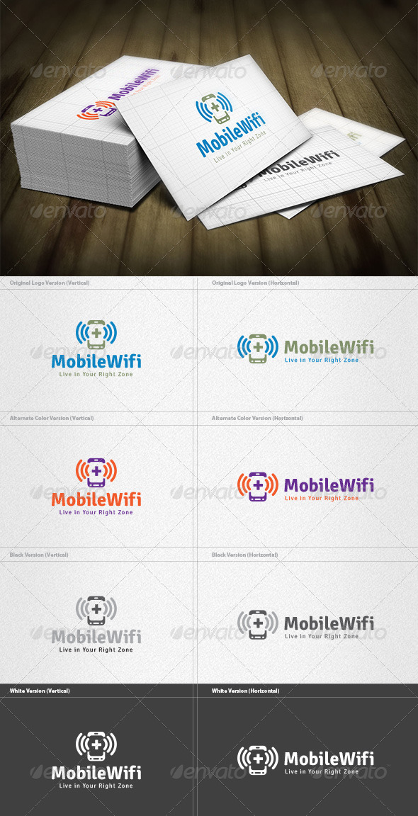 Mobile Wifi Logo - Objects Logo Templates