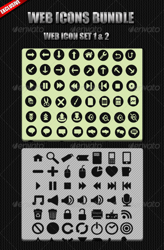 Web Icon Bundle - Web Icons