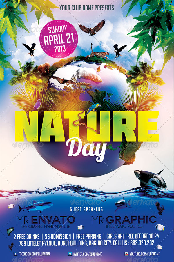 Earth Day Flyer Template by mikkool | GraphicRiver