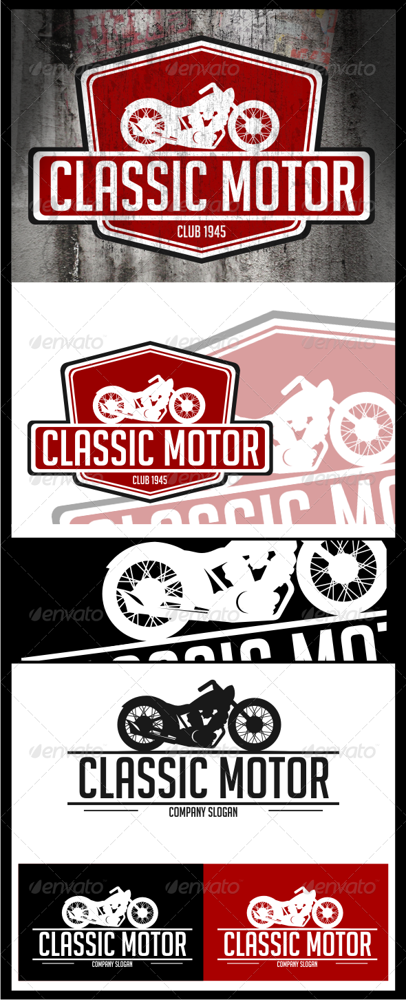 Classic Motor Logo Templates - Objects Logo Templates