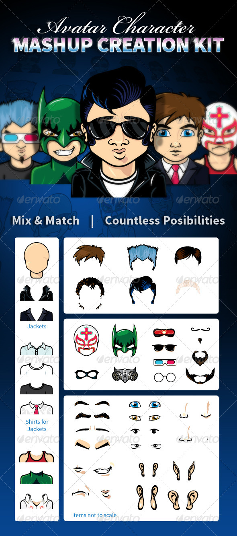 Avatar Character Mashup Creation Kit - People Characters