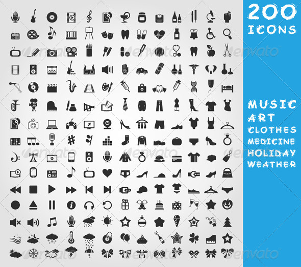 Collection of Icons - Miscellaneous Vectors