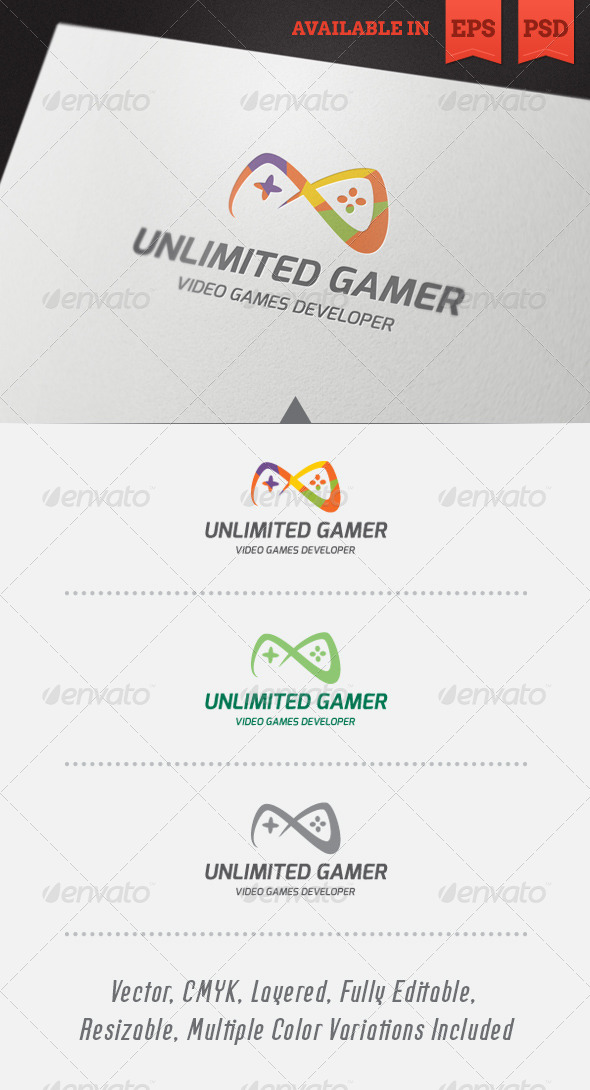 Unlimited Gamer Logo Template - Objects Logo Templates