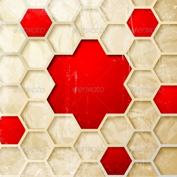 Abstract Hexagon Background - Abstract Conceptual