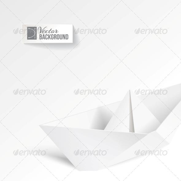 Paper Ship. - Abstract Conceptual