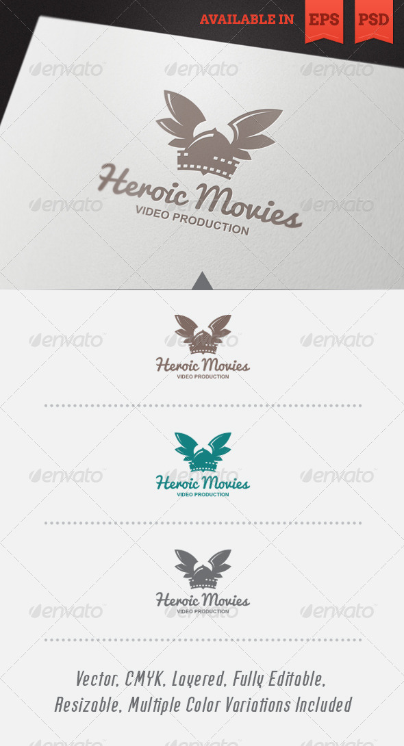 Heroic Movies Logo Template - Objects Logo Templates