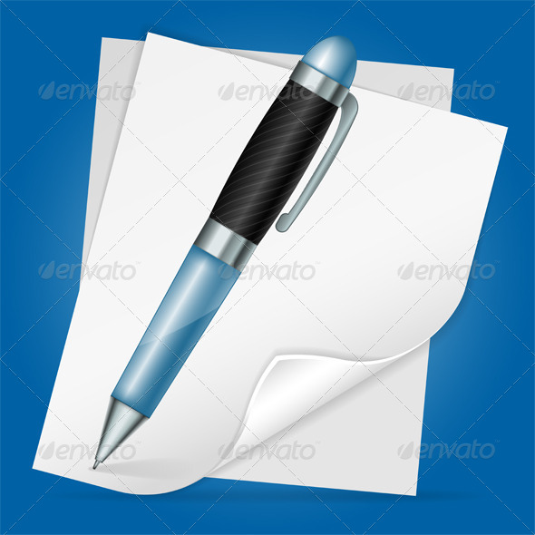 Pen with Sheet Paper - Concepts Business