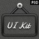 Dark & Shiny UI Kit - GraphicRiver Item for Sale