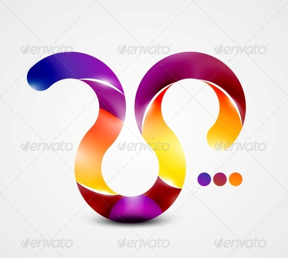 Colorful Abstract Swirl Shape - Web Elements Vectors