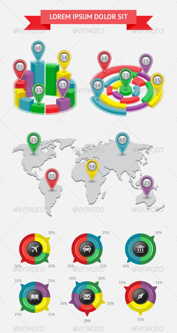 Infographics and Web Elements - Web Elements Vectors