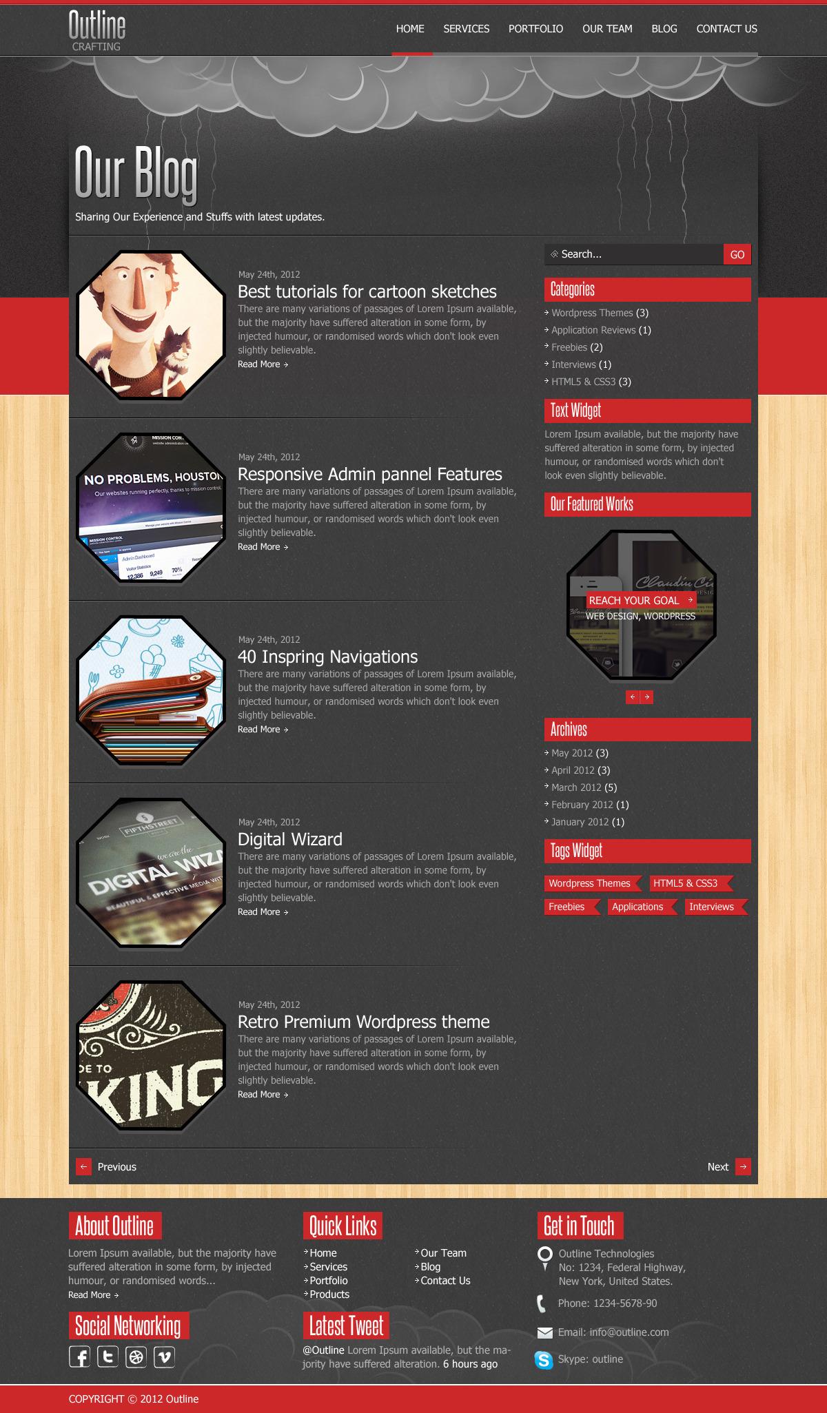 Outline Multi Purpose PSD Template