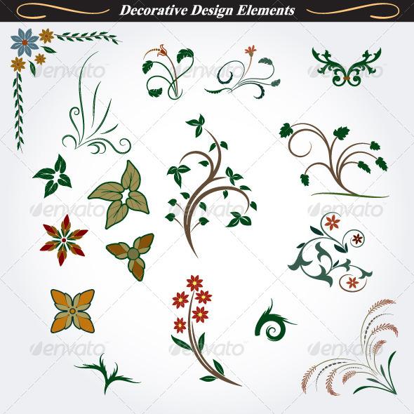 Collection of Decorative Design Elements 8 - Flourishes / Swirls Decorative