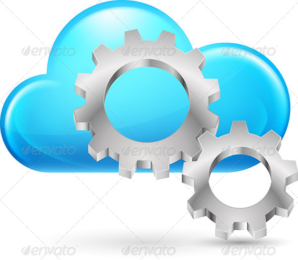 Cloud with Gearwheel - People Characters