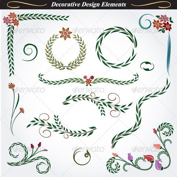 Collection of Decorative Design Elements 10 - Flourishes / Swirls Decorative