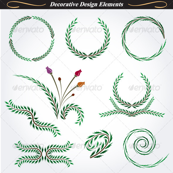 Collection of Decorative Design Elements 11 - Flourishes / Swirls Decorative