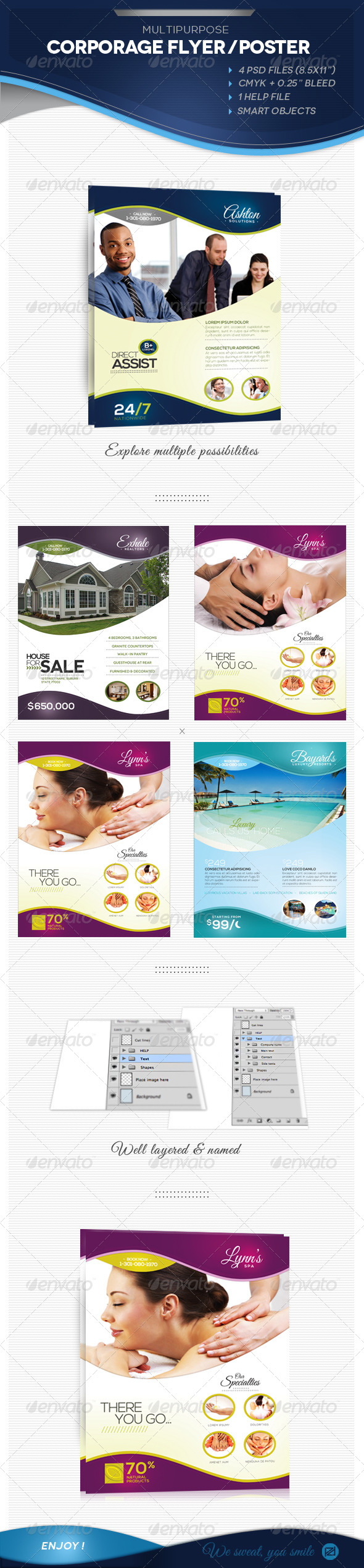 Multipurpose Corporate Flyer / AD / Poster - Corporate Flyers