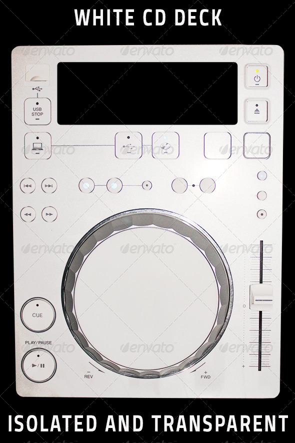 Isolated White CD Deck - Isolated Objects