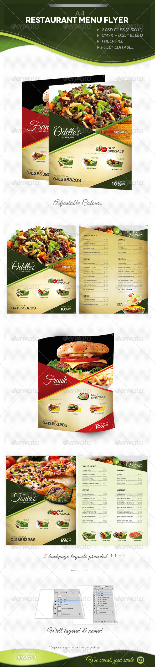 A4 Restaurant Menu - Restaurant Flyers