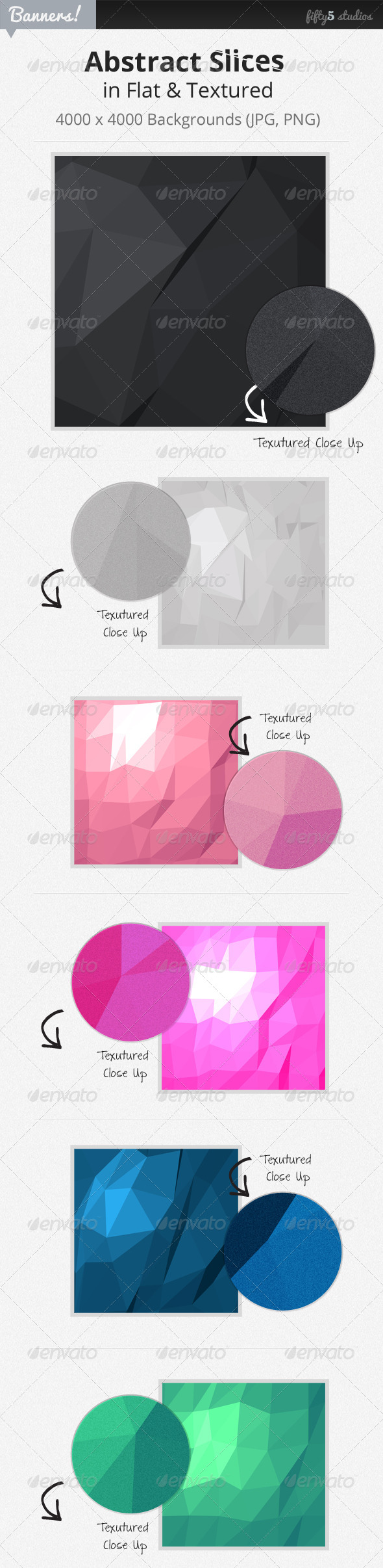 24 Abstract Slices Graphic Backgrounds - Abstract Backgrounds