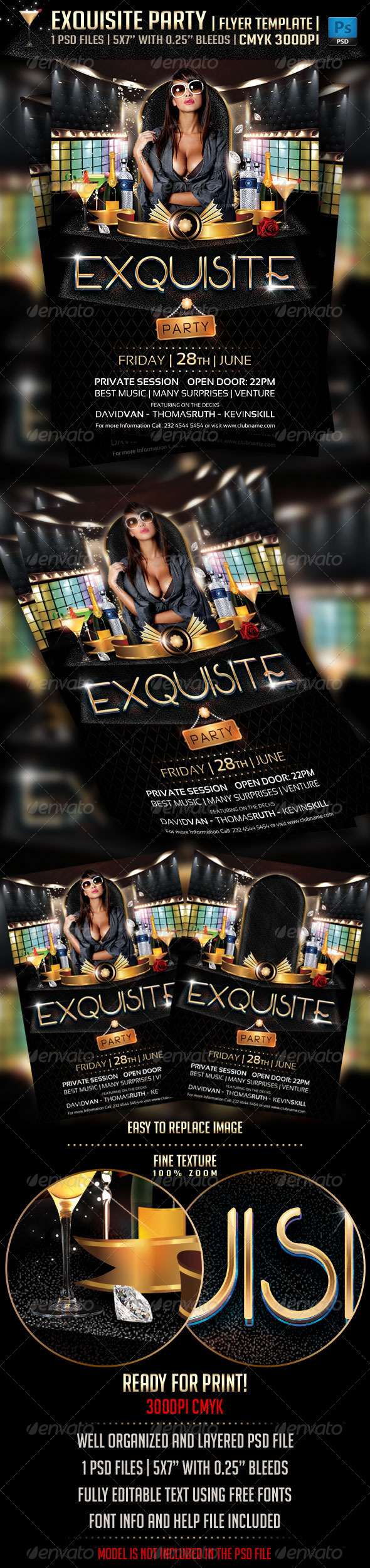 Exquisite Party Flyer Template - Flyers Print Templates